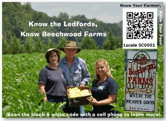 Know Your Farmer Shelf Talker with QR Code profilecard